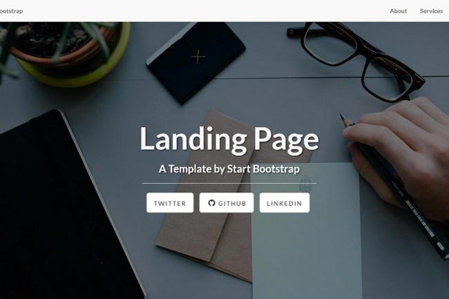 Создам или скопирую landing pageСайт под ключ<br>Создам или скопирую landing page, настрою под Ваши нужды, изменю дизайн, подредактирую логотип и другие фото, установлю на Ваш хостинг.<br>