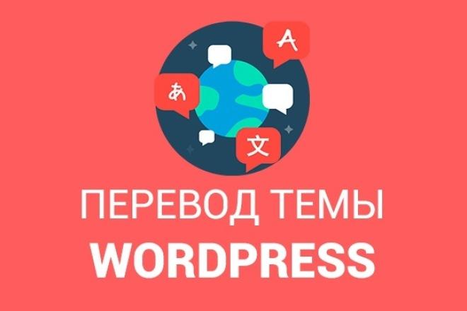 переведу тему/шаблон сайта WordPress 1 - kwork.ru