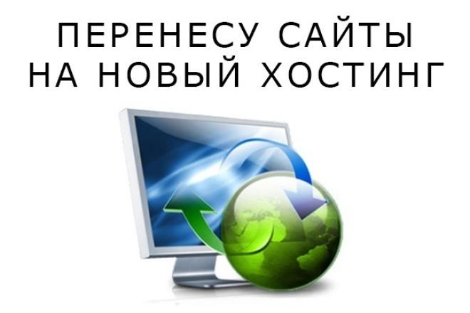 Перенесу сайт на другой хостинг/доменДомены и хостинги<br>Перенесу Ваш сайт с одного хостинга на другой под ключ(домен).При необходимости помогу с выбором недорого и качественного хостинга. Выполню в максимально короткие сроки.<br>
