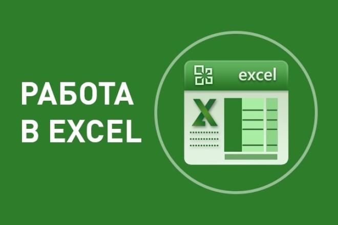 Выполню работу в Excel (составление формул, графиков, диаграмм)Персональный помощник<br>Могу выполнить для Вас следующую работу в программе MS Excel. Заполнить данными с отсканированного бумажного носителя, документа Word или PDF Объединить содержимое двух таблиц по одинаковой колонке Составить, подкорректировать сложную формулу или несколько простых Построить график или диаграмму Работа со сводными таблицами<br>