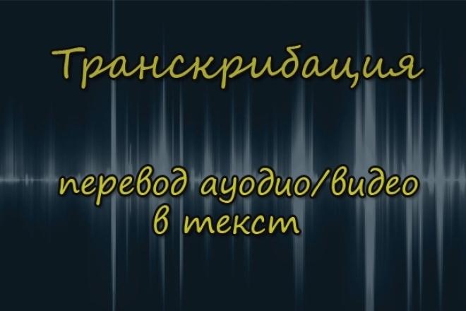 переведу видео, аудио запись в текст 1 - kwork.ru