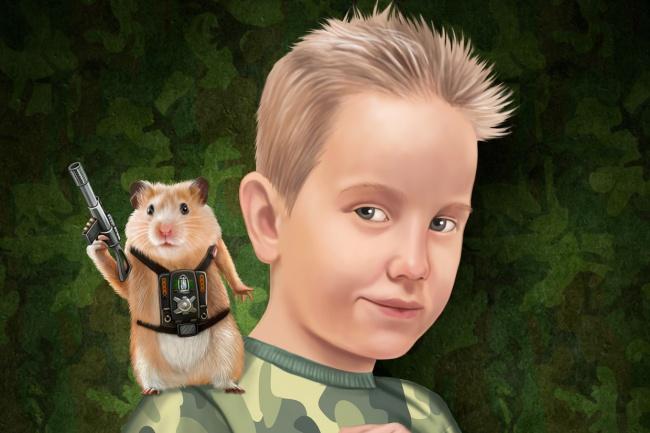 Нарисую цветной портрет по фото 1 - kwork.ru