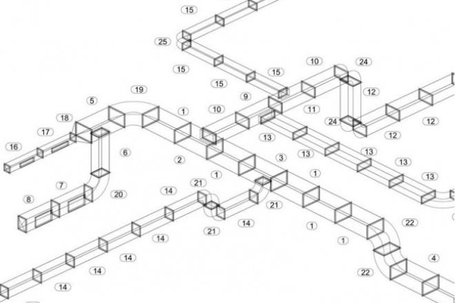 Выполню замер воздуховодов систем вентиляции по образцу заказчикаИнжиниринг<br>Выполнение замеров воздуховодов систем вентиляции, составление комплектовочной заказной ведомости, обсчет площади стали и количества расходников, вычерчивание монтажной схемы.<br>
