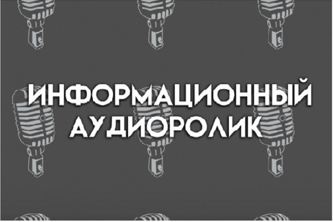 Озвучка информационного ролика 1 - kwork.ru
