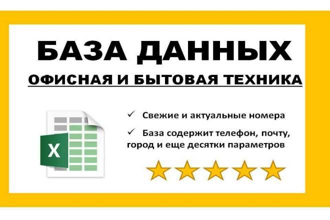 База данных офисная и бытовая техника 1 - kwork.ru