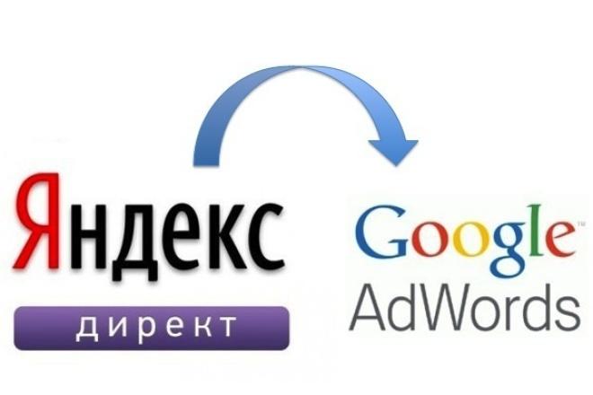 Перенесу рекламную кампанию из Яндекс.Директ в Google Adwords 1 - kwork.ru