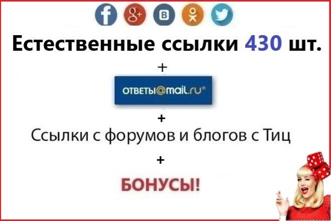 430 естественных ссылок на ваш сайт. Ответы Mail. ru. Форумы с тиц 1 - kwork.ru