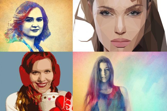 Портрет по фотографии в разных стилях 1 - kwork.ru
