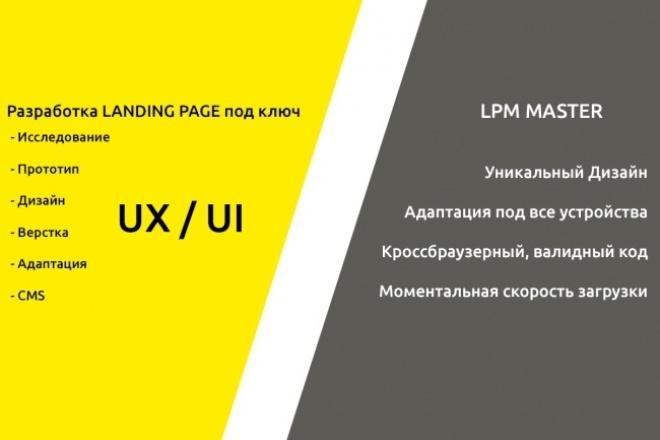 Разработка Лендинга под ключ 1 - kwork.ru