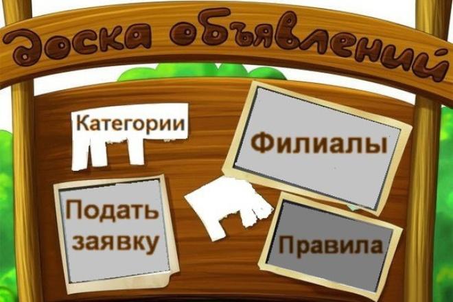 Создам доску объявлений вашего города 1 - kwork.ru