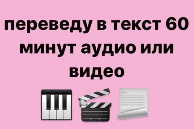Переведу текст из аудио и видео в электронныйНабор текста<br>Переведу текст из видео или аудио записи (до 60 минут) в электронный формат. Видео или аудио запись должны быть на русском языке!<br>