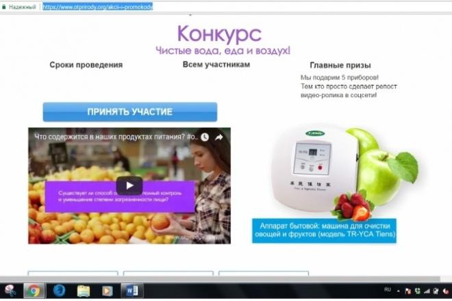 Сделаю хорошую рекламную акцию. Привлеку внимание к сайту 1 - kwork.ru