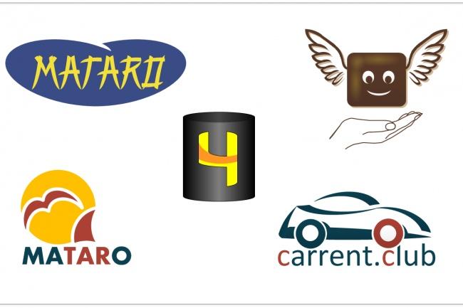 4 варианта логотипа в исходном формате VSD 1 - kwork.ru