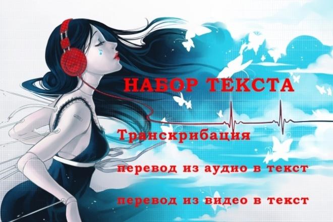 Расшифрую аудио, видео в текст 1 - kwork.ru