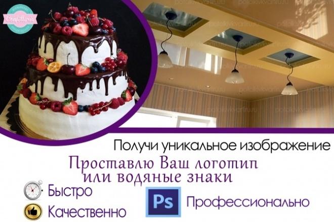 Поставлю логотип или водяные знаки, удалю фон 1 - kwork.ru