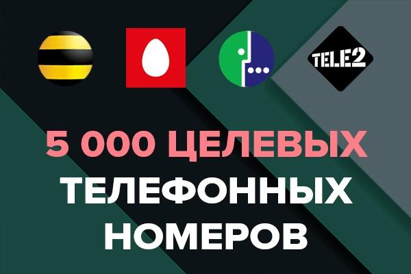 Телефонная база. Сбор целевых телефонных номеровИнформационные базы<br>Соберу целевые номера телефонов с профилей ВКонтакте. Что значит целевые телефонные номера? Например, вам нужны номера только мужчин 25 - 40, интересующихся forex. Или номера девушек 18 - 25 из Москвы и С-Пб, которые изучают английский. Ваши звонки уже не холодные, потому что аудитория горячая :) База сдаётся в формате текстового файла .txt (в каждой строке 1 номер). P.S. Все собираемые мной телефонные номера находятся в открытом доступе.<br>