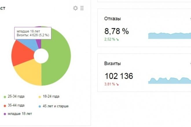 Установлю Яндекс.Метрику и Google Analytics и настрою цели 1 - kwork.ru