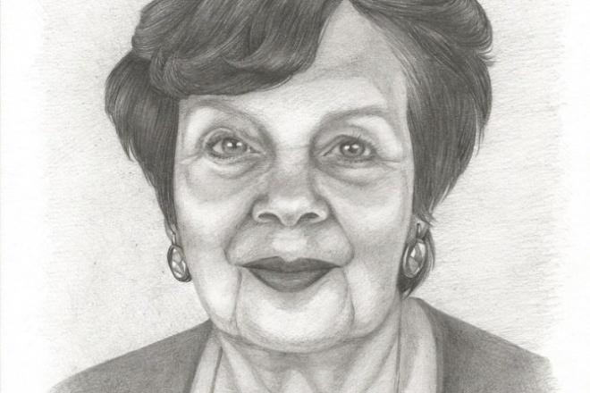 Портрет на бумаге 1 - kwork.ru