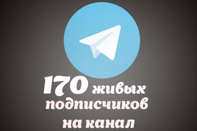 170 живых подписчиков на канал в TelegramПродвижение в социальных сетях<br>Добавлю 170 живых пользователей телеграм на ваш канал эффективно и безопасно. Процент отписавшихся не более 5-10%. Психологический барьер для новых подписчиков - примерно 3000 подписок. Для людей это означает, что этот аккаунт интересен и на него точно стоит подписаться. Успей раскрутить свой канал. Я советую заказывать 2 кворка, это будет намного выгодней + постоянным клиентам скидка<br>