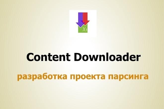 Настройка проекта парсинга Content DownloaderАдминистрирование и настройка<br>Настройка любого проекта парсинга с помощью программы Content Downloader. В кворк входит настройка проекта под один сайт до 8 границ парсинга. Проект поиска ссылок и написание скриптов это отдельные опции. Принимаются заказы любой сложности и извращенности.<br>