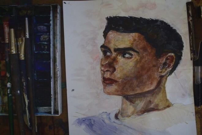 Напишу портрет в короткие сроки 1 - kwork.ru