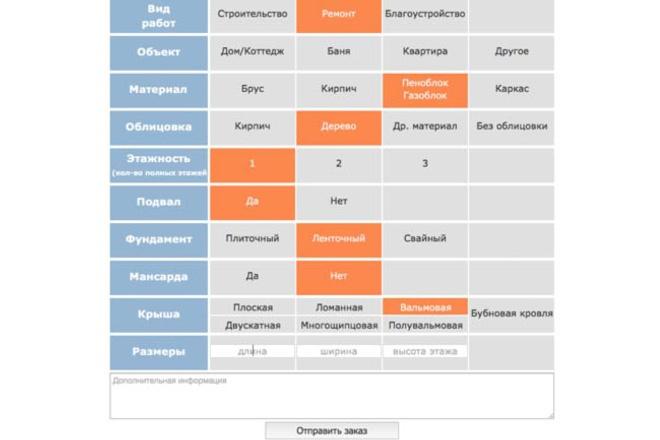 Создам калькулятор для сайта 1 - kwork.ru
