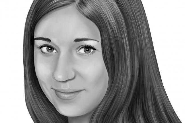 Нарисую ч/б портрет по фото 1 - kwork.ru