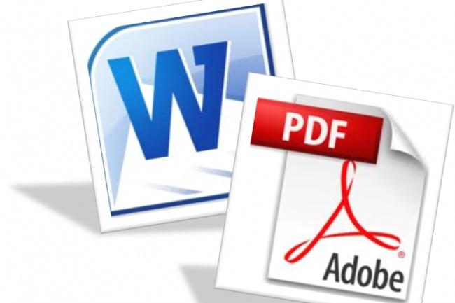 Конвертация PDF в WordРедактирование и корректура<br>Выполню конвертацию (перевод) и распознавание текста с отсканированных файлов или фото в Word (до 100 страниц формата А4).<br>