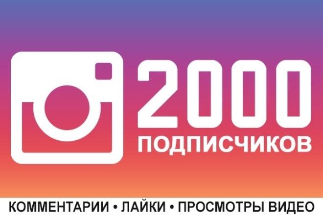 2000 подписчиков в Instagram + ГарантииПродвижение в социальных сетях<br>Живые люди (офферы*) будут подписываться на Ваш Instagram. Возможно 2000 подписчиков разбить на несколько аккаунтов. Например, мы можем добавить по 500 подписчиков на 4 любых аккаунта. Ну, а теперь - коротко о главном. Нужно больше подписчиков? Заказывайте сразу несколько кворков! При заказе 2-х и более кворков - бонус +10% к подписчикам! Максимальный объем 8800 подписчиков - это 4 кворка. Идеальный вариант для старта! На крупные профили охотнее подписываются люди, чем в те где всего 300-500 человек! Это некий психологический барьер-стадное чувство, так же количество подписчиков влияет на выдачу в ТОПе. Отписок не больше 5%. Гарантия от списаний 12 месяцев. Все подписчики с аватарками и публикациями. Рекомендую заказывать сразу как можно больше подписчиков, так как это выйдет гораздо выгоднее. С постоянными заказчиками готовы работать на индивидуальных условиях. * Офферы - это люди, которые за определенное вознаграждение подписываются на ваш аккаунт, ставят лайки, смотрят видео или комментируют. На определенном этапе они полностью заменили ботов и фейков. Как правило офферы активности не проявляют, их единственная мотивация - выполнить задание и получить вознаграждение.<br>