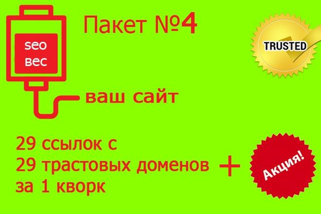 29 весовых ссылок - Пакет 4 1 - kwork.ru
