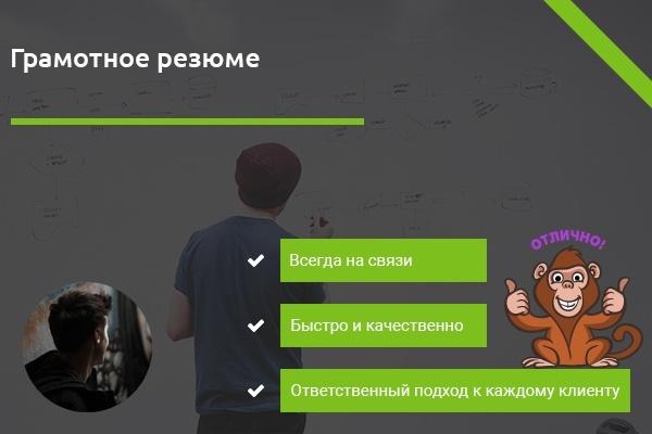 Грамотное резюме 1 - kwork.ru