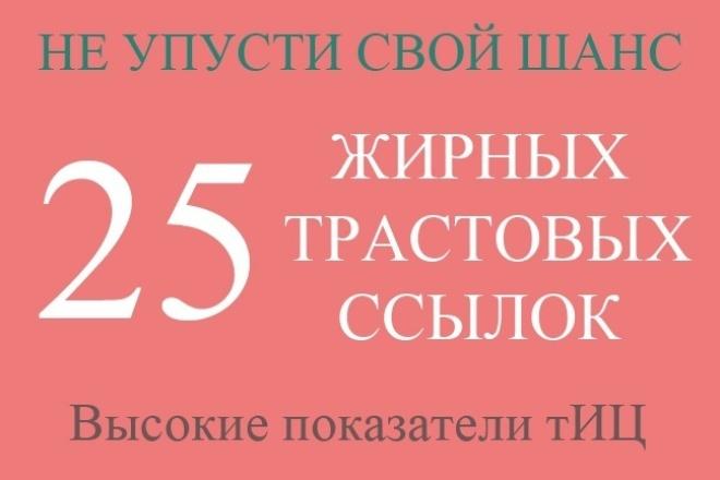 25 жирных вечных ссылок с трастовых сайтов с Высоким ТИЦ + SSL-сер 1 - kwork.ru