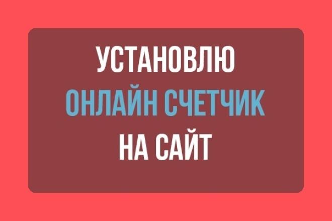 установлю счетчик на сайт 1 - kwork.ru