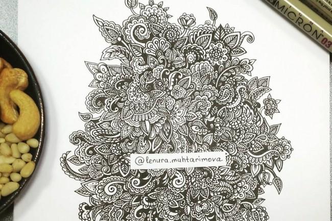 Рисую в cтиле Zen Art 1 - kwork.ru