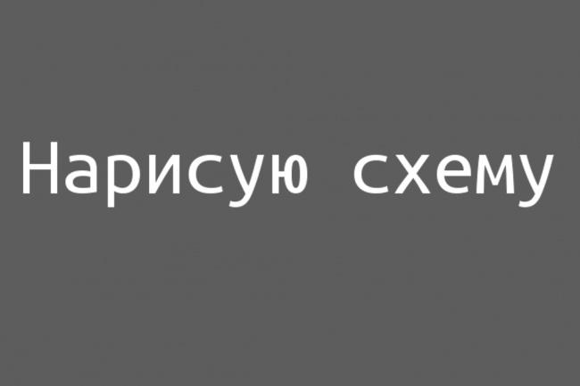 Нарисую схему 1 - kwork.ru