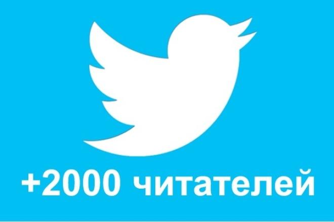 2000 читателей в Twitter + лайки, ретвиты 1 - kwork.ru