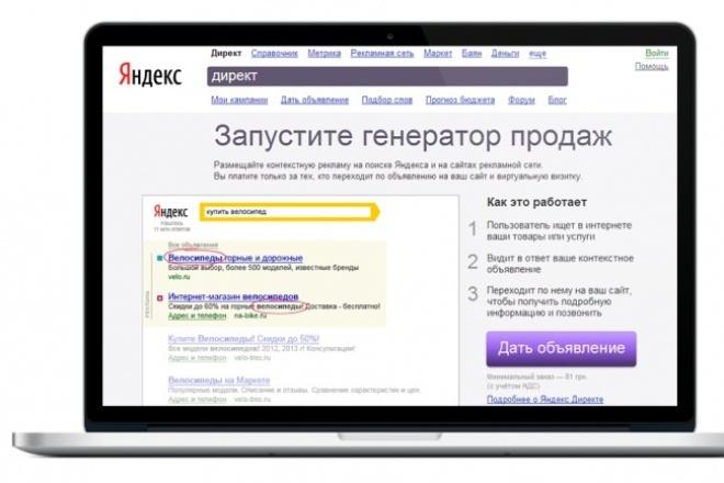 Создам прибыльную рекламную компанию в Яндекс Директ + РСЯ 1 - kwork.ru