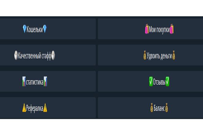 Бот телеграмм - магазин киви кошельков 1 - kwork.ru