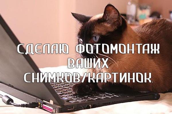 Работы в PhotoshopФотомонтаж<br>-Уберу лишние записи/объекты, -вырежу/вставлю объекты с одной картинки на другую, -замена одежды/фона/лица/головы, -набор текста, -фотоколлажи и прочее. Пишите, учту все ваши просьбы, терпелива и старательна к работе.:)<br>