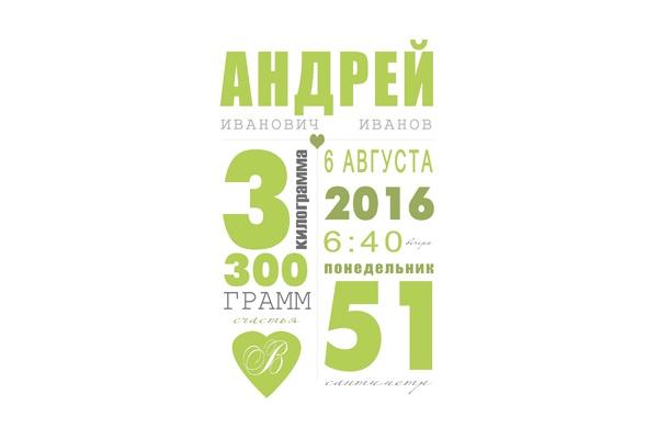 Постер-метрика для детской комнаты 1 - kwork.ru