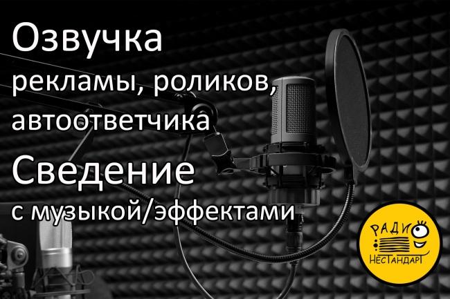 Озвучка рекламы, роликов, автоответчика, сведение с музыкой 1 - kwork.ru