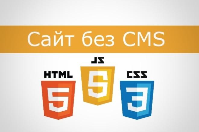 Создам сайт без CMS 1 - kwork.ru
