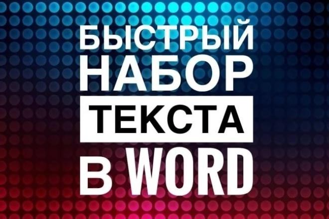Набор текстаНабор текста<br>Качественно, быстро и грамотно наберу текст в формат Word исходники: -рукопись (с разборчивым почерком) 10000 знаков -аудио 15000 знаков -сканер 15000 знаков<br>