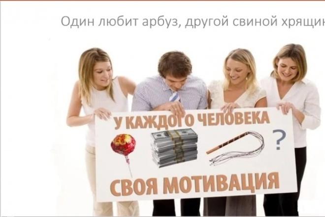 Разработаю мотивацию для рядового сотрудника на 2 страницах А4 1 - kwork.ru