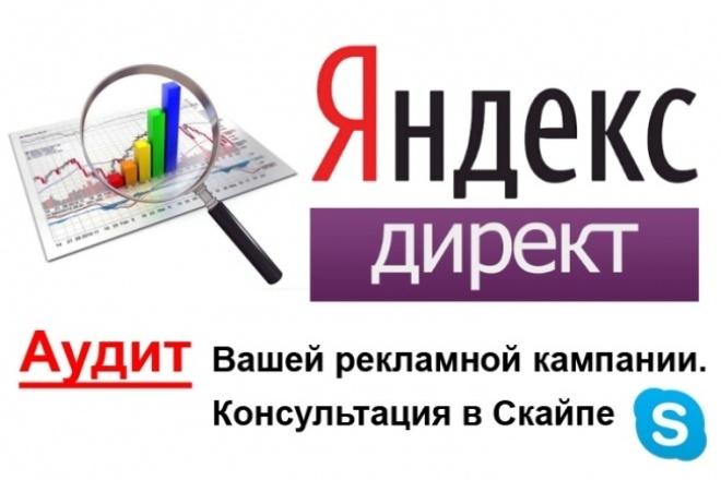 Аудит рекламной кампании в Яндекс.Директ. Консультация в Скайпе 1 - kwork.ru