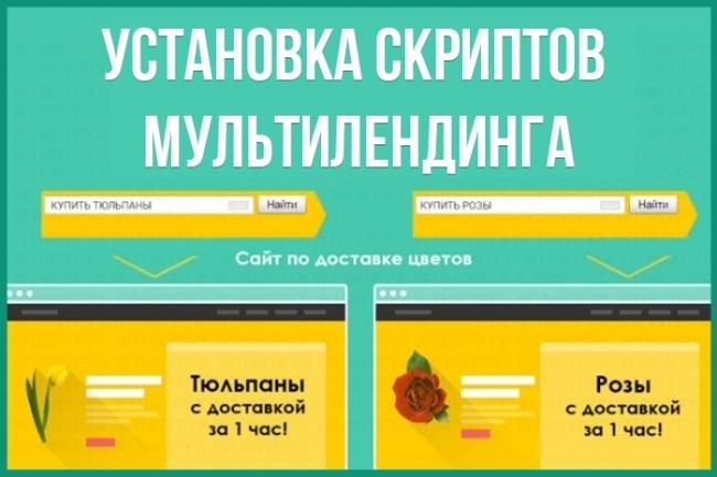 Установка скриптов  мультилендинга 1 - kwork.ru