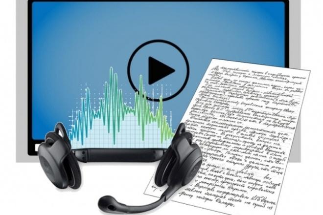 Транскрибация аудио, видео, фото и PDF в текстовый документНабор текста<br>Переведу аудио или видео материал, информацию с картинки (фотографии), файла в формате PDF в текстовый файл формата MS Word. Для аудио или видео материалов ограничение 50 минут. При работе с материалами плохого качества, заказывайте дополнительную услугу, и обязательно предварительно предупреждайте для избежания недоразумений. При транскрибации фото или PDF в один кворк входит объем до 5 страниц включительно печатного текста. Дополнительно, можно заказать оформление текста для удобства чтения и дальнейшей распечатки.<br>
