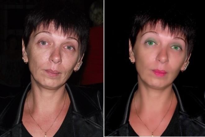 Отретуширую фотоОбработка изображений<br>Естественная ретушь, чистая кожа, пластика, устранение недостатков, редактирование, цветокорреция. Добавлю различные эффекты, рамочки, надписи и прочее.<br>