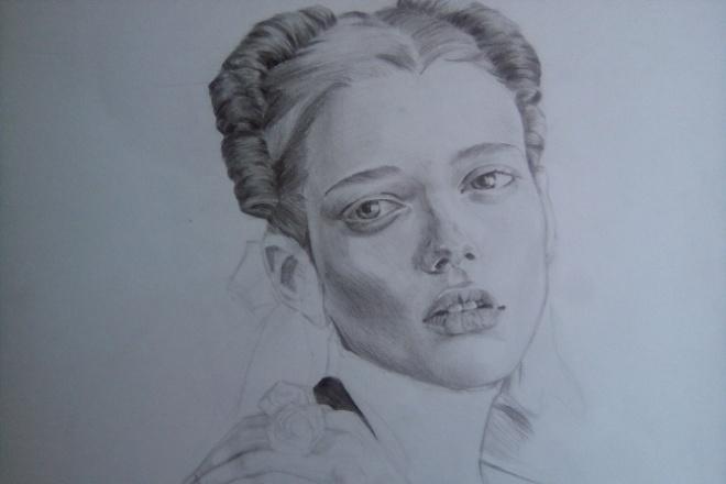 Нарисую портрет по фотографииИллюстрации и рисунки<br>Рисую на бумаге на форматах А4 или А3. Рисую по фотографии разумного качества, отправляю скетчи. Также рисую просто скетчи, примеры ниже ( не закончены, так как рисовала для себя)<br>