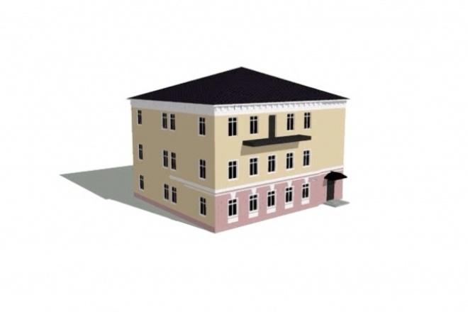 Создам 3d модель здания, интерьера, ландшафта и прочегоМебель и дизайн интерьера<br>Создам 3d модель дома, здания, постройки. Модель не включает интерьеры. Также возможно создание любых других 3d моделей.<br>